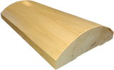 "4""x12"" Super Round Cabin Grade Half Log- Hand Peeled Surface - #487"