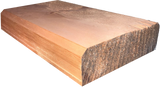 "4""x12"" Square Cabin Grade Half Log- Hand Hewn Surface - #495"