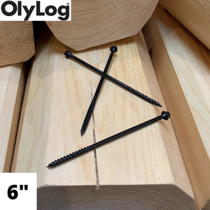 "6"" Log & Timber Screws - OlyLog"