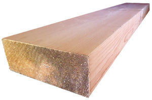 "4"" x 10"" Square-Edge Log Trim - Smooth or Hand-Hewn"