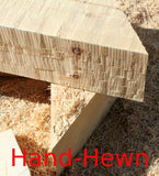 "4"" x 10"" Beveled-Edge Log Trim - Smooth or Hand-Hewn"
