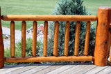 cedar log rail railing deck loft log home cabin rustic decor post horizontal vertical