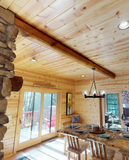 "log beam round ceiling beam 8"" 8 inch rafter pillar golden eagle log & timber homes log home mart wisconsin rapids pine beam"