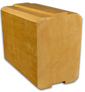 "8"" x 12"" Beveled-Edge Square Full-Log/Timber - Smooth or Hand-Hewn Surface"
