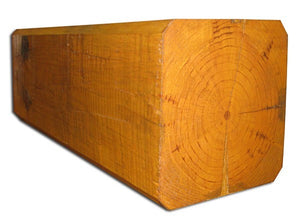 "8"" x 8"" Beveled-Edge Square Full-Log/Timber - Smooth or Hand-Hewn Surface"