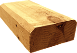 "4""x8"" Square Cabin Grade Half Log- Hand Hewn Surface - #439"