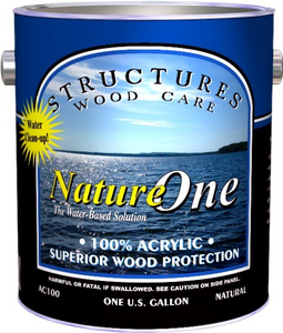 Structures Wood Care NatureOne Nature One Acrylic Exterior Topcoat Top Coat Clear Sealer
