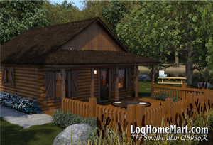 The Small Cabin - Ranch Style - 672 sq. ft.