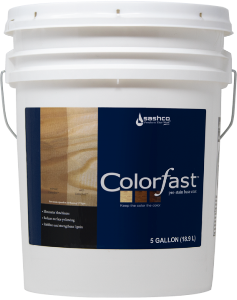 Colorƒast™ - Pre-Stain Base Coat for Wood - 5 Gallons