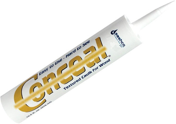 Conceal - Textured Wood Caulk - 10 oz. Single Tube caulk chink caulking chinking wood log home cabin textured colored sashco sashco conceal textured wood log caulk tube colors redwood weathered gray brown tone red tone gold tone harvest wheat grizzly brown frontier gold