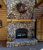 full log mantel pine mantel fireplace mantel rustic decor cabin log home timber stone fireplace shelf shelves shelving white pine wisconsin parmeter golden eagle log home mart wally tod jay sharon parmeter laura zach parmeter