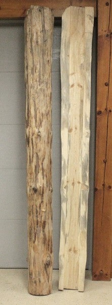 Rustic Decorative Log Post Wrap