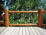 metal aluminum galvanized log railing spindles balusters log home mart golden eagle regal ideas wood