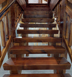 square timber stair tread step steps log rectangle pine stairway stars riser stringer tread do it yourself diy stairs golden eagle log home mart log timber home cabin remodel ideas rustic country wood parmeter zach house