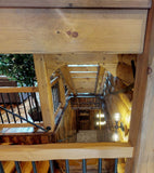 "Premium Square Timber Stair System w/ Pre-Notched Stringers - 36"" Wide"