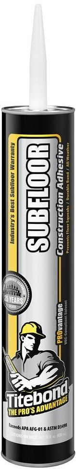 titebond subfloor construction adhesive provantage 28 oz. tube