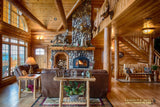 round long rustic log timber tree like tie beam beams rafter rafters ceiling great room loft pine golden eagle log home mart tod sharon jay sarah zachary zack zak zac zach parmeter beam beam beam beam beam log beam round beam tree beam