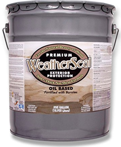 WeatherSeal™ - Premium Exterior Wood Stain & Sealant - 5 Gallon