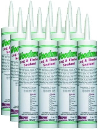 Woodsman - Smooth Wood/Log Caulk - 11 oz. Tubes - Case of 12 ct.
