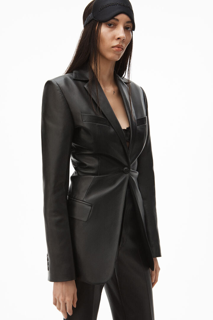 Single Breasted Cinched Waist Blazer