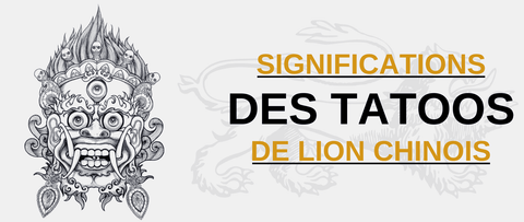 signification tatoo chien chinois
