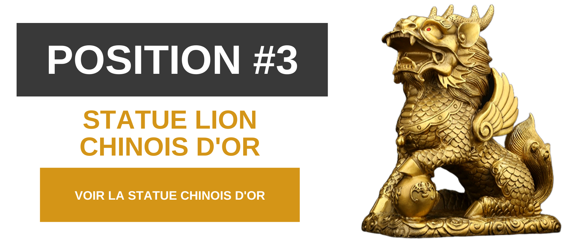 Statue lion chinois.