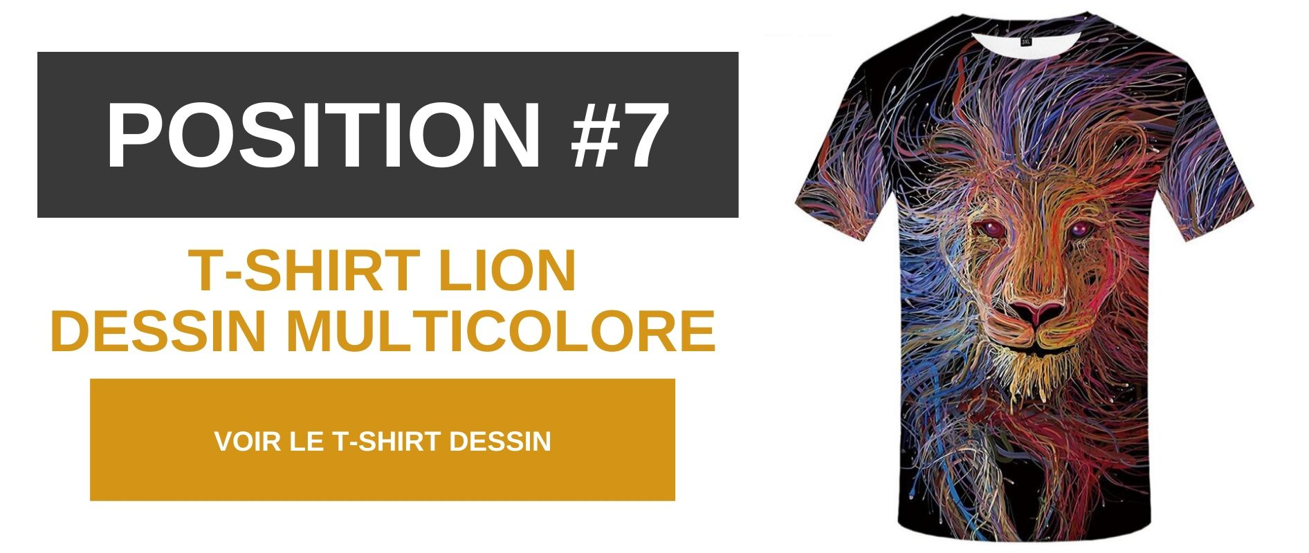 T-shirt lion multicolor.