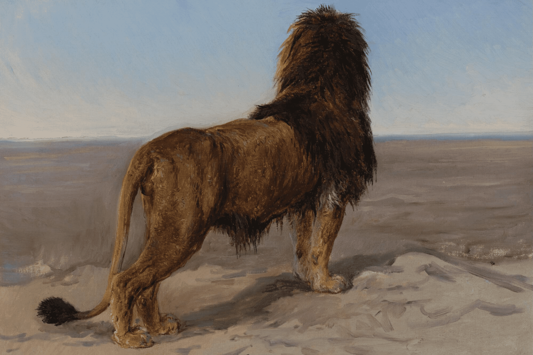 """The Lion Look Out"" - Rosa Bonheur"