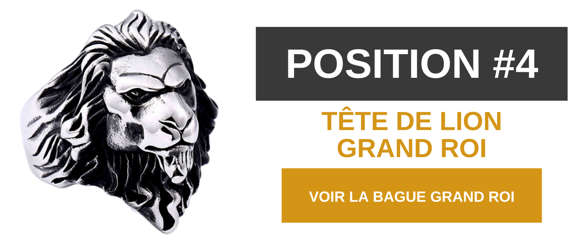 Bague lion grand roi.