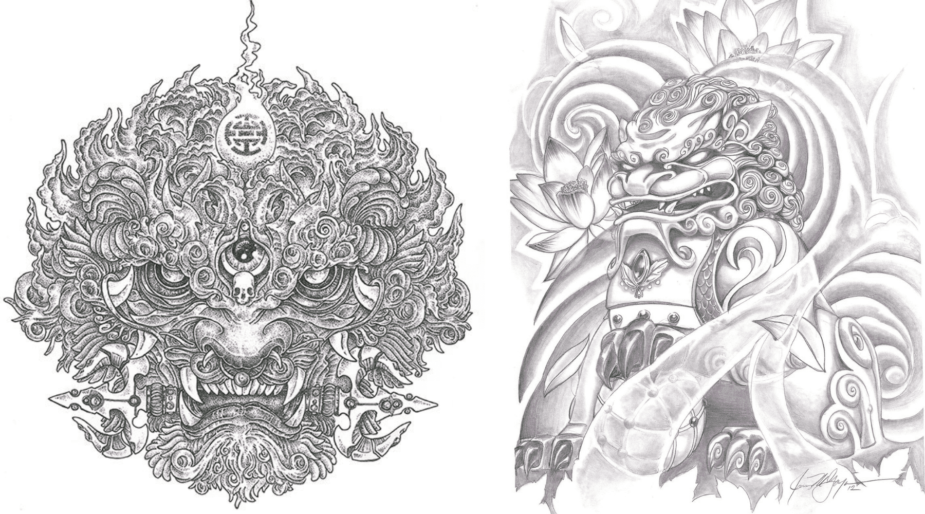 tatoueur lion de chine