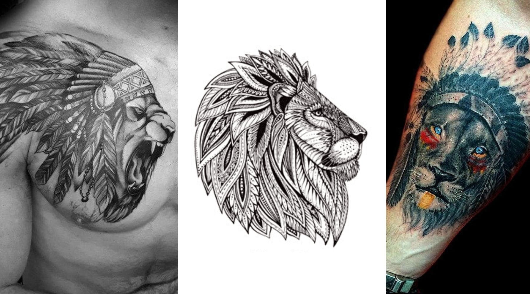 Signification Tatouage Lion Lion Royaume