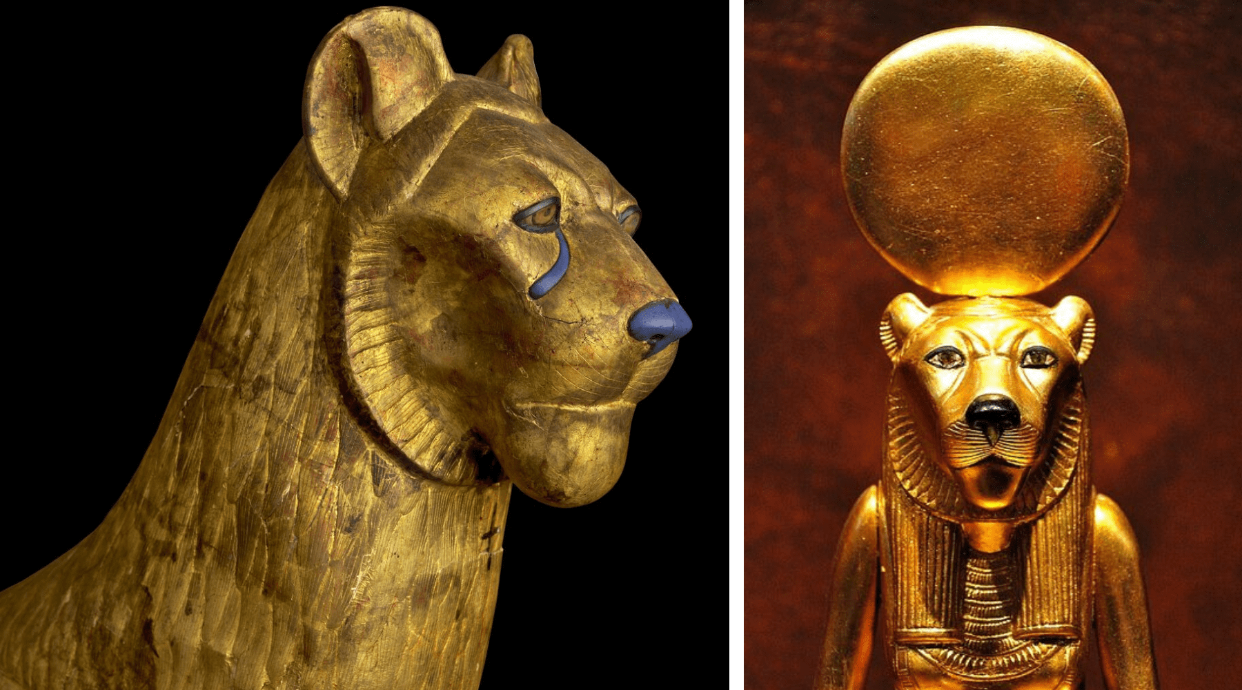 Art egyptien lions.