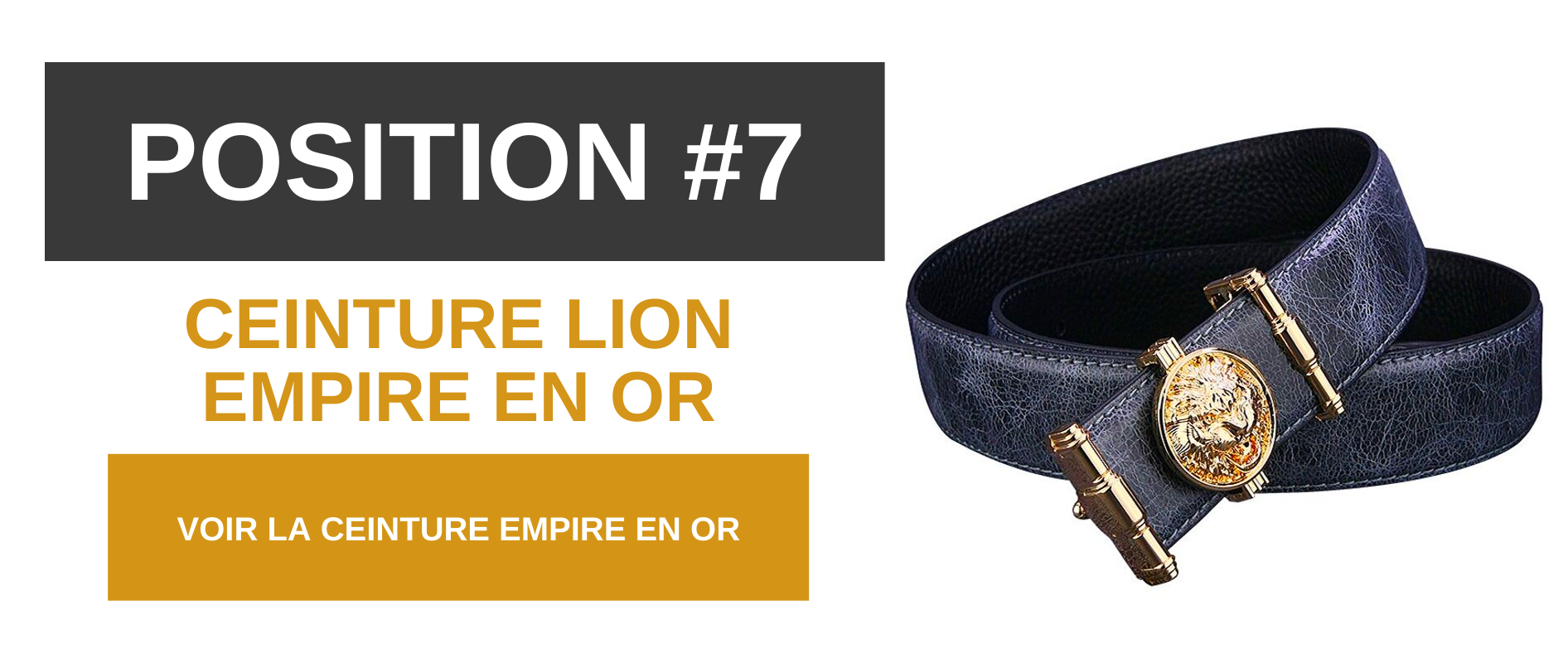 Ceinture lion empire et or.