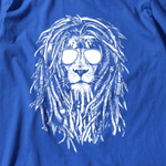 t shirt lion bleu