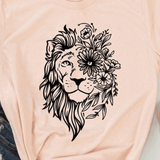 t shirt lion beige