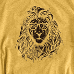 t shirt lion jaune