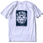 T-Shirt Lion Cool Blanc Et Noir
