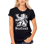 T-Shirt Lion Woman Noir