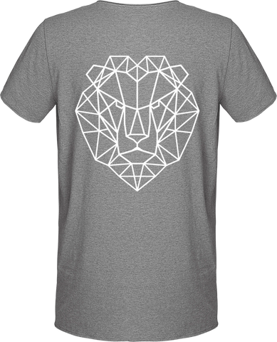 T-shirt lion royaume gris.