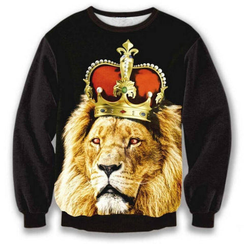 Pull Lion Couronne Roi