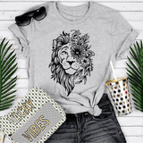 T-Shirt Lion Mixte Gris