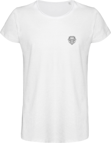 T-shirt brave blanc lion royaume.