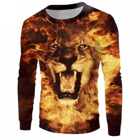 Pull Lion Flamme