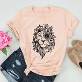 T-Shirt Lion Mixte Pêche