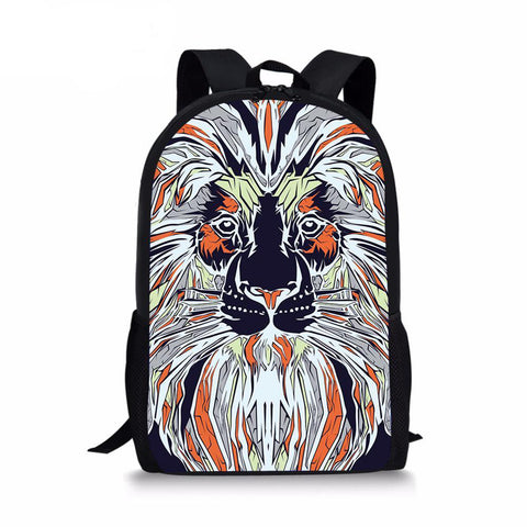 Sac à dos lion art contemporain