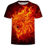 T-Shirt Lion Feu Vif