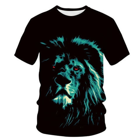 T-Shirt Lion Yeux Rouges
