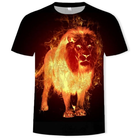 T-Shirt Lion Feu