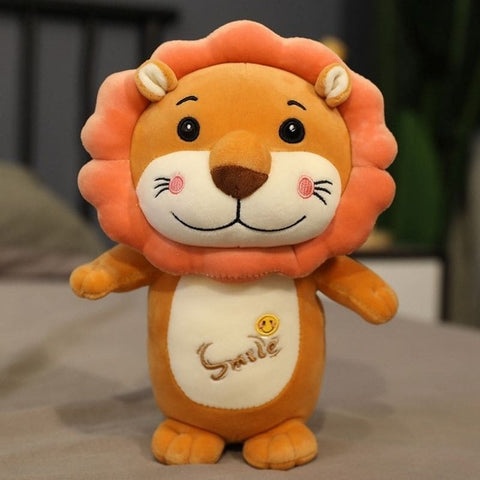Peluche Lion Smile Marron