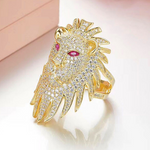Bague diamant lion.